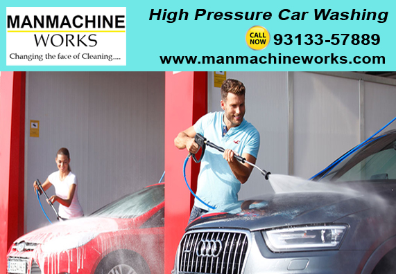 high-pressure-car-washing